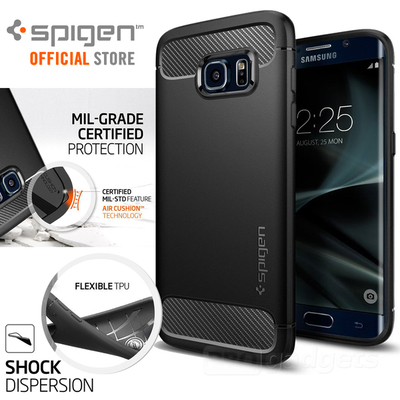 Galaxy S7 Edge Case, Genuine Spigen Rugged Armor Resilient Cover for Samsung