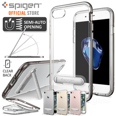 iPhone 7 Plus Case, Genuine SPIGEN Crystal Hybrid Kickstand Cover for Apple