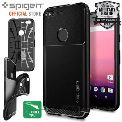 Google Pixel Case, Genuine SPIGEN Rugged Armor Ultra Slim Soft Cover for Google