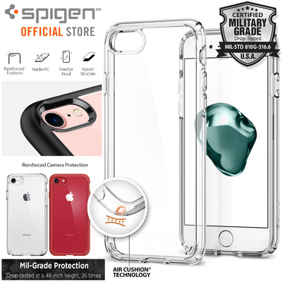 iPhone 7 Case, Genuine SPIGEN Ultra Hybrid 2 Air Cushion Soft Cover for Apple