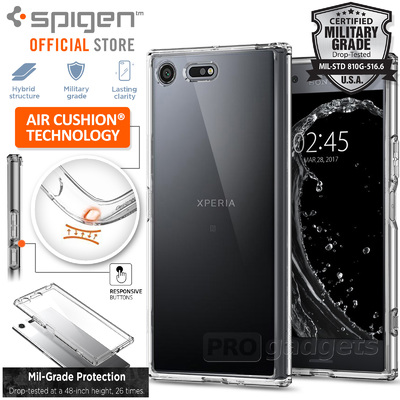 Xperia XZ Premium Case, Genuine SPIGEN Ultra Hybrid Air Cushion Cover for Sony