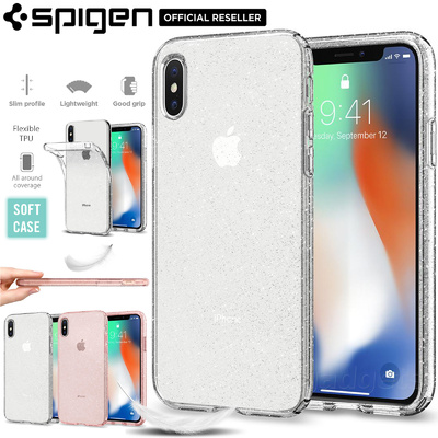 iPhone X Case Genuine SPIGEN Liquid Crystal Glitter Soft Cover for Apple